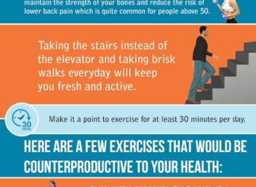How to keep fit after 50 – Infographic