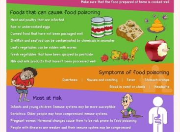 Food Poisoning – Causes, Symptoms, and Treatment – Infographic