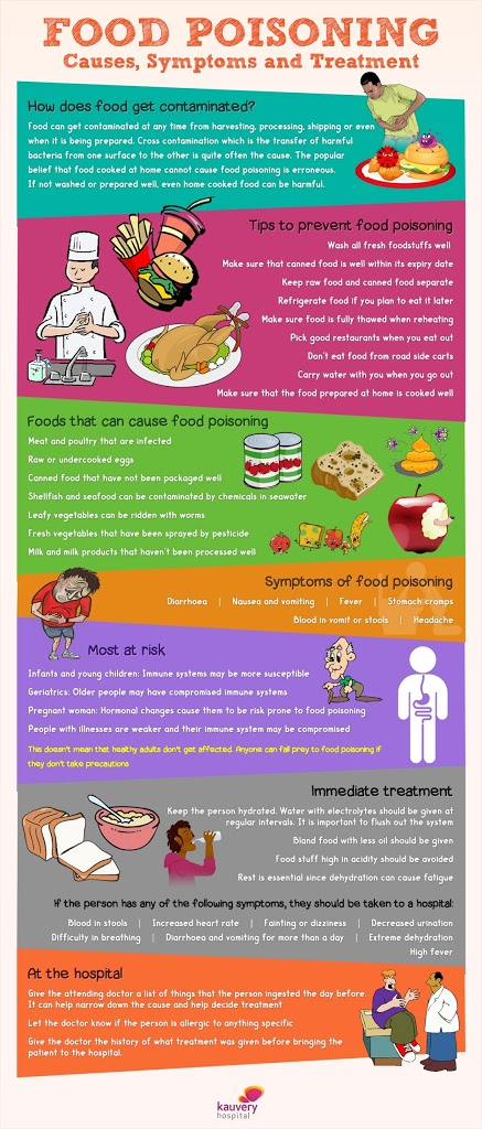 Food Poisoning Causes Symptoms And Treatment Infographic