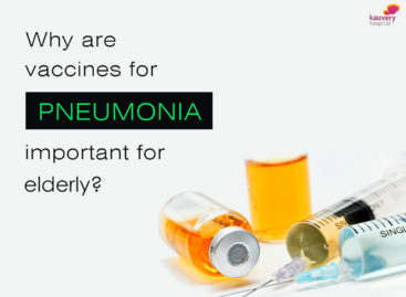 Why are vaccines for pneumonia important for elderly?