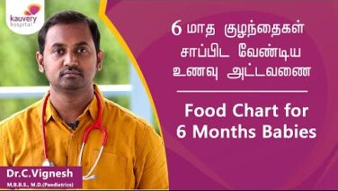 Food Chart for 6 months old Babies | Kauvery Hospital